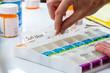 Quadro organizing prescriptions for the week