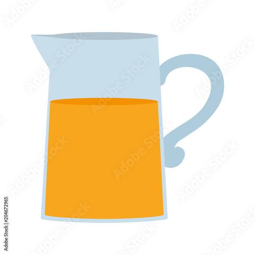 świeży pomarańczowy zdrowy sok w słoiku