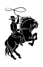 Cowboy On Horseback Sticker