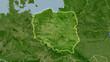 Poland, satellite B - light glow - 204674559