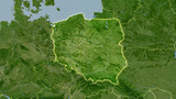 Poland, satellite B - light glow - 204674559