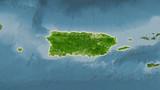 Puerto Rico, satellite B - light glow