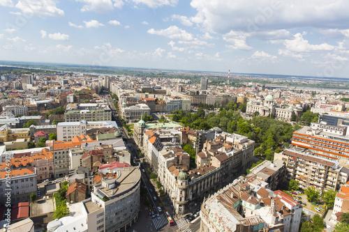 Poster BELGRADE, SERBIA - JUNE, 2018: Panoramic view of the Belgrade, capital of the Serbia