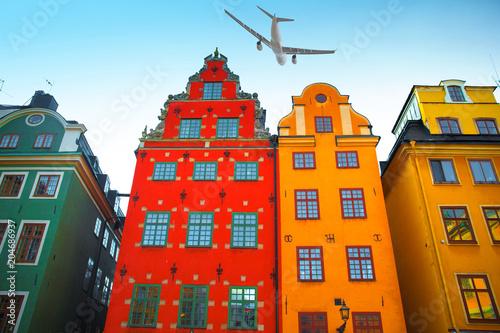Plexiglas Stockholm Stortorget place in Gamla stan