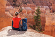 Quadro Hiker visits Bryce canyon National park in Utah, USA