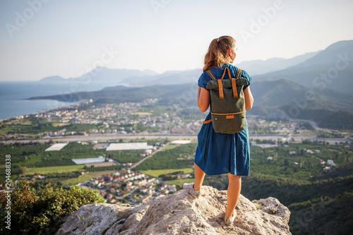 Hiker on lician way