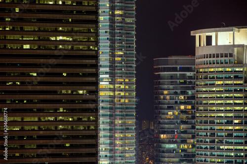 Fotobehang Chocoladebruin Kuala Lumpur city in the night