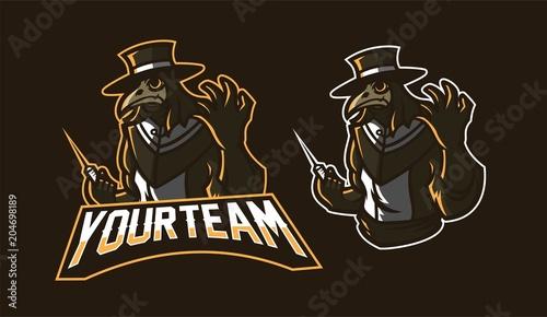 doctor plague esport gaming mascot logo template buy photos ap