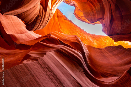 Plexiglas Bordeaux Lower Antelope Canyon