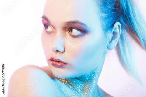 professional multicolor makeup