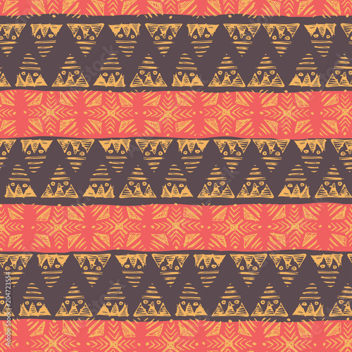 Fototapeta hand drawn african ethnic seamless pattern