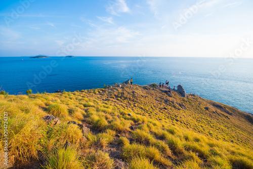 Canvas Honing Beautiful landscape of Krating Cape, Nai Harn beach, Phuket, Thailand