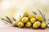 olives on wood with background - 204725390