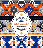 American indian ornate pattern design