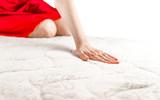 woman on a soft mattress - 204730542
