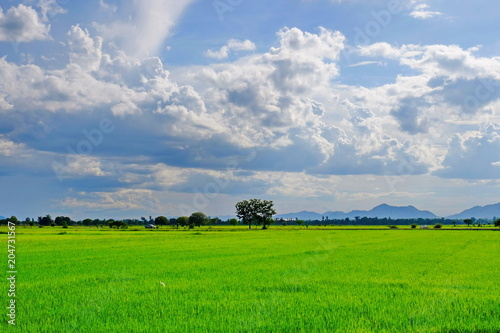 Plexiglas Lente Blue sky and beautiful clouds in bright days.