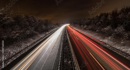 Plexiglas Nacht snelweg road #5