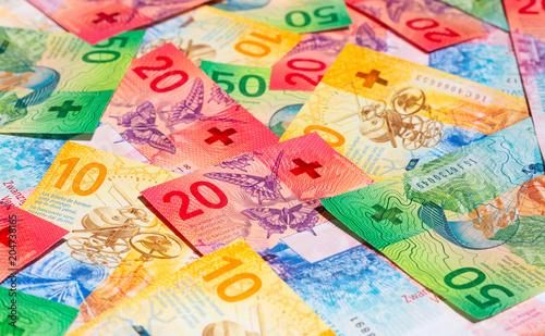 Foto Murales Swiss francs