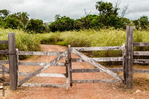 Plexiglas Zalm Porteira de madeira velha
