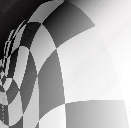 Fotobehang F1 checkered flag racing background vector