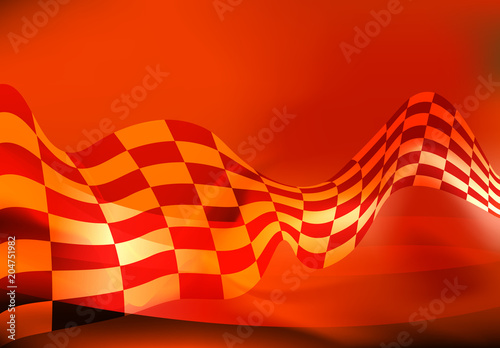 checkered flag waving racing background vector