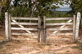 Porteira de madeira velha - 204752174