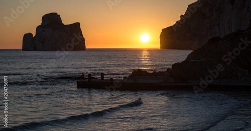 Aluminium Zee zonsondergang Sardegna