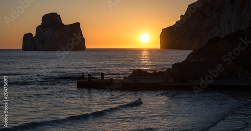 Plexiglas Zee zonsondergang Sardegna
