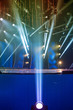 light rays on the stage