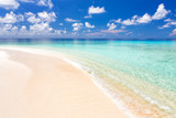 Beautiful ocean beach on Maldives - 204773581