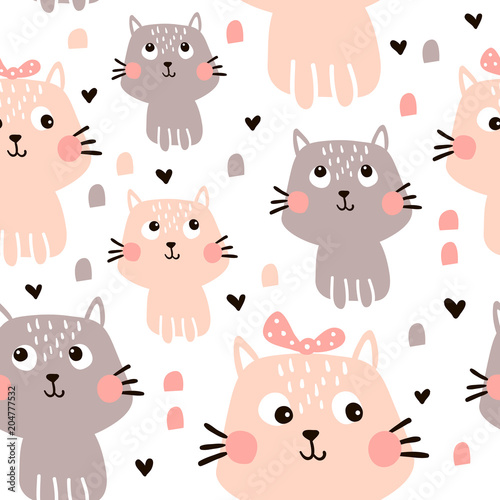 obraz PCV cat pattern