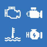 Set of 4 motor filled icons - 204779160