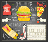 Fast Food Menu Template - 204780580