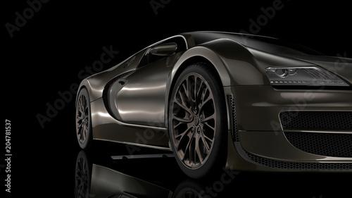 Super sport car in perspective - 204781537