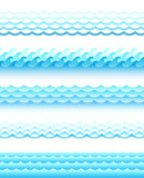 Set of different style water waves. Vector illustration. - 204790586