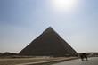 Pyramid of Khafre against the sky