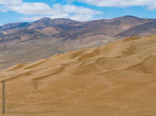 Large dunes in the Atacama desert, near the city of Copiapo, Northern Chile