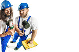 Craftsmen holding tools - 204799304