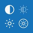 Outline set of 4 brightness icons