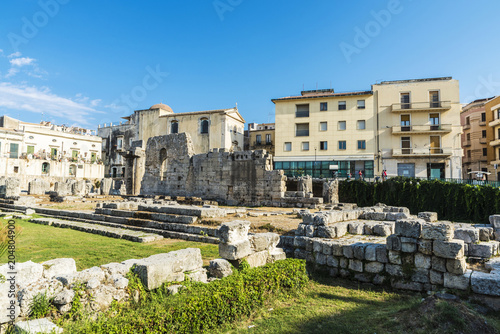 Temple of Apollo in Siracusa in Sicily, Italy