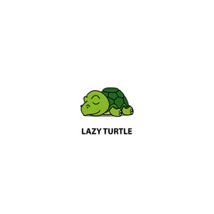Lazy turtle sleeping icon, logo design, vector illustration