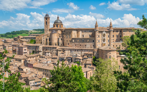 Leinwanddruck Bild Urbino, city and World Heritage Site in the Marche region of Italy.