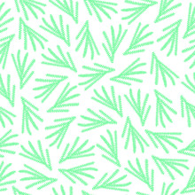 Seamless Floral Pattern Stylish Wallpaper Amazing Illustration  Turquoise Branches   Sticker