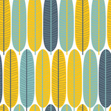 Cute tropical leaves seamless pattern. Perfect fabric print. Vector hand drawn illustration. - 204821962