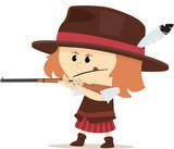 cowgirl en duel au far west - 204823103