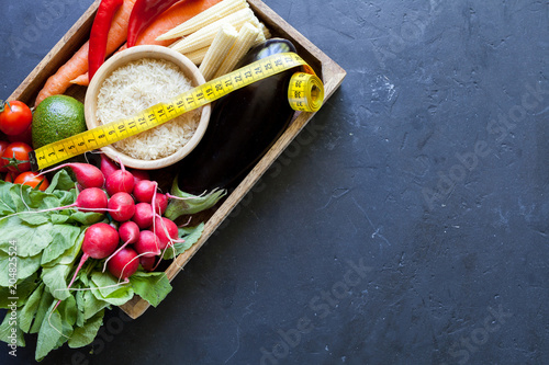 Foto Murales Organic food background