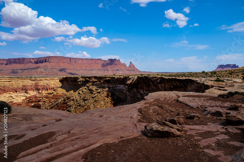 This is a Maze view in the remote and magnificent Maze District of the Canyonlands National Park in Utah.
