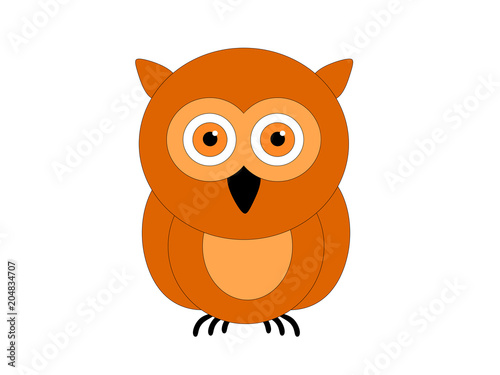 Fotobehang Uilen cartoon сова