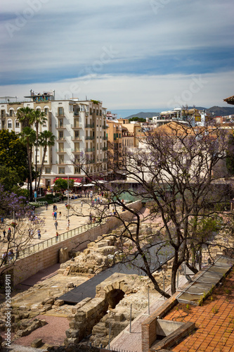 View of Alcazabilla and Roman theater of Malaga