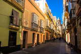 Street. A sunny day in the street of Cadiz. Andalusia, Spain. Picture taken – 6 may 2018.